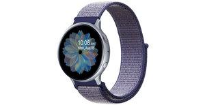 iMoshion Nylon bandje Galaxy Watch 40/42mm / Active 2 42/44mm - Paars