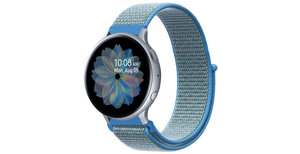 iMoshion Nylon bandje Galaxy Watch 40/42mm / Active 2 42/44mm - Blauw