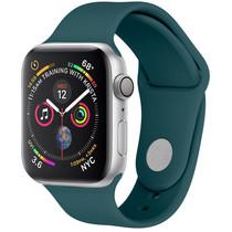 iMoshion Siliconen bandje Apple Watch 38/40 mm - Donkergroen