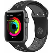 iMoshion Siliconen sport bandje Apple Watch 42/44mm - Zwart / Grijs