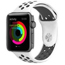 iMoshion Siliconen sport bandje Apple Watch 42/44mm - Wit