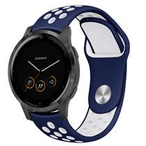 iMoshion Siliconen sport bandje Garmin Vivoactive 4L - Blauw / Wit