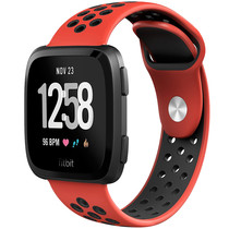 iMoshion Siliconen sport bandje Fitbit Versa 2 / Lite - Rood / Zwart