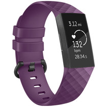 iMoshion Siliconen bandje Fitbit Charge 3 / 4 - Paars
