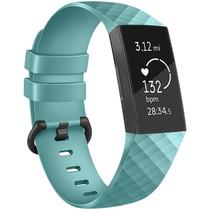 iMoshion Siliconen bandje Fitbit Charge 3 / 4 - Turquoise