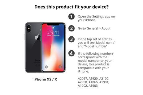 Selencia Gehard Glas Premium Screenprotector voor iPhone Xs / X
