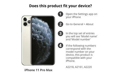 Slim Folio Booktype voor de iPhone 11 Pro Max - Zwart