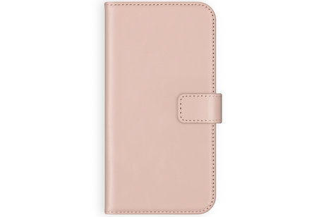 Selencia Echt Lederen Booktype voor iPhone SE (2020) / 8 / 7 / 6(s) - Roze