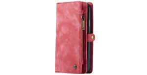 CaseMe Luxe Lederen 2 in 1 Portemonnee Booktype iPhone 11 - Rood