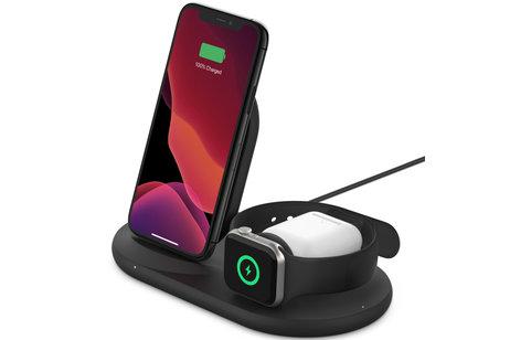 Belkin 3-in-1 Wireless Charger iPhone + Apple Watch + AirPods - 7.5W - Zwart