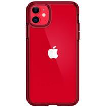 Spigen Ultra Hybrid Backcover iPhone 11 - Rood
