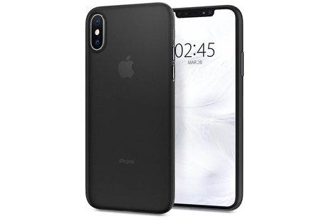 Spigen Air Skin Backcover voor iPhone X / Xs - Zwart