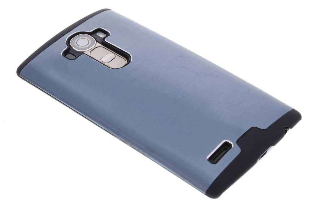 Donkerblauw brushed aluminium hardcase hoesje voor de LG G4