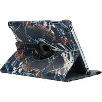 360° Draaibare Design Bookcase iPad 2 / 3 / 4 - Zwart Marmer