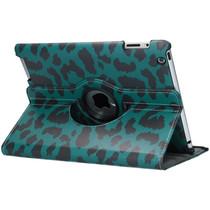 360° Draaibare Design Bookcase iPad 2 / 3 / 4 - Groen Panter