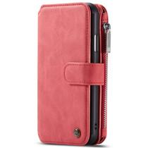 CaseMe Luxe 2 in 1 Portemonnee Booktype iPhone 11 - Rood