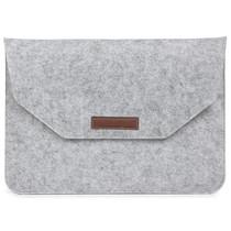 Vilten Soft Sleeve 15 inch - Lichtgrijs