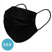 Uniseks wegwerp mondkapje met elastiek volwassenen - 50 Pack