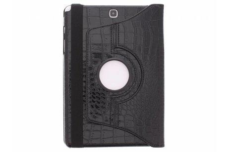 360° Draaibare Bookcase voor Samsung Galaxy Tab A 9.7 - Zwart