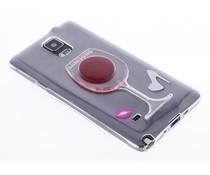 Transparant wijnglas TPU hoesje Samsung Galaxy Note 4