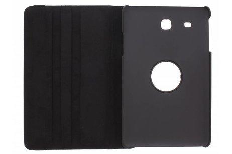 360° Draaibare krokodil Bookcase voor Samsung Galaxy Tab E 9.6 - Zwart