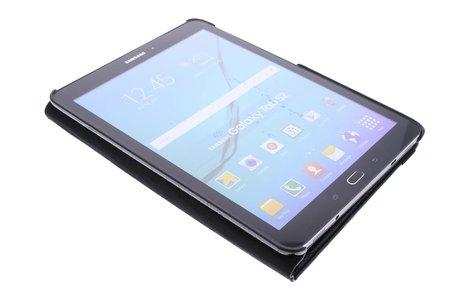360° Draaibare krokodil Bookcase voor Samsung Galaxy Tab S2 9.7 - Zwart