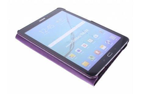 360° Draaibare krokodil Bookcase voor Samsung Galaxy Tab S2 9.7 - Paars