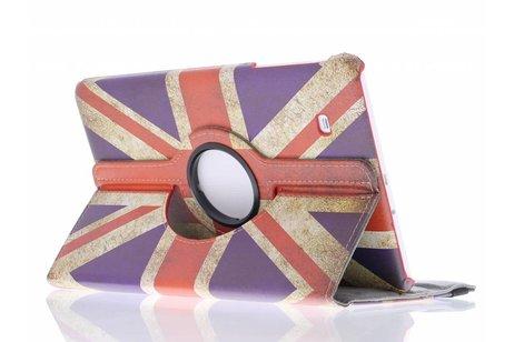 360° Draaibare Design Bookcase voor Samsung Galaxy Tab E 9.6 - Britse Vlag