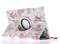 360° Draaibare Design Bookcase voor Samsung Galaxy Tab E 9.6 - Roze rozen