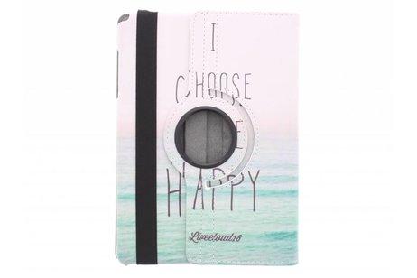 360° Draaibare Design Bookcase voor Samsung Galaxy Tab A 9.7 - Choose Happy