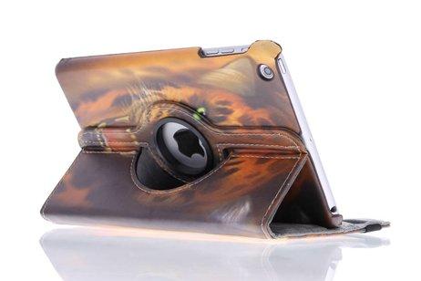 360° Draaibare Design Bookcase voor iPad Mini / 2 / 3 - Tijger