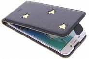 Fab. Gold Reversed Star Flipcase voor de Samsung Galaxy S6 Edge Plus