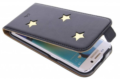Fab. Gold Reversed Star Flipcase voor de Samsung Galaxy S6 Edge