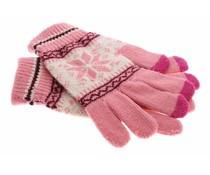 Roze Noorse touchscreen handschoenen