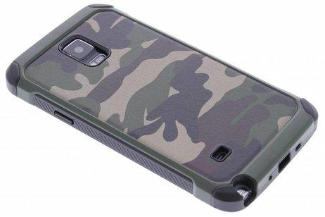Samsung Galaxy Note 4 hoesje - Army Defender Backcover voor
