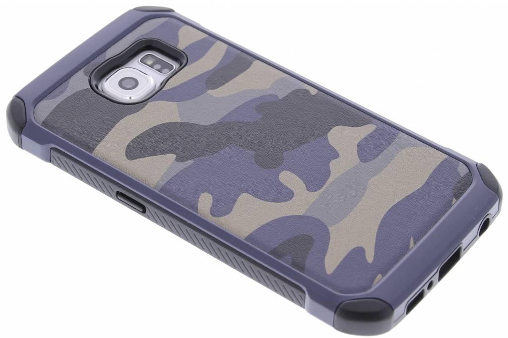 Army Defender Backcover voor Samsung Galaxy S6 - Blauw