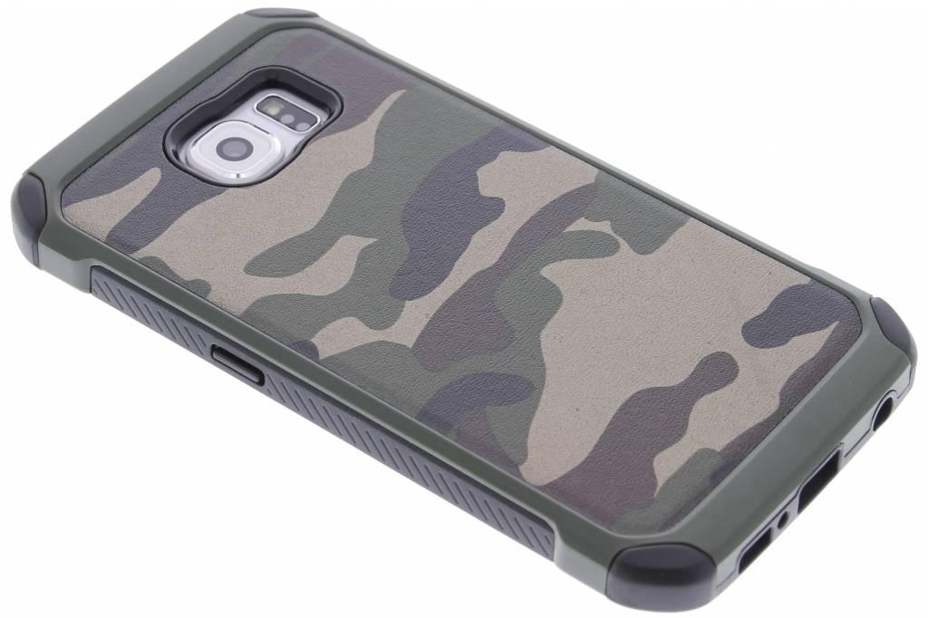 Army Defender Backcover voor Samsung Galaxy S6 - Groen