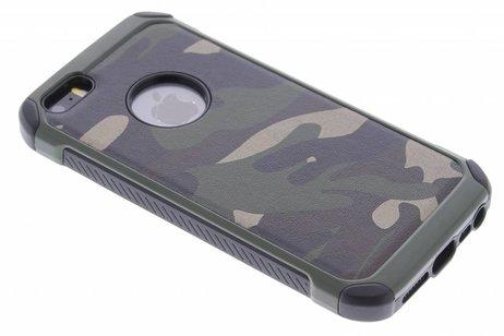 Army Defender Backcover voor iPhone SE / 5 / 5s - Groen