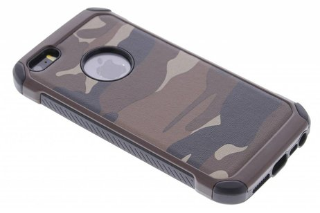Army Defender Backcover voor iPhone SE / 5 / 5s - Bruin