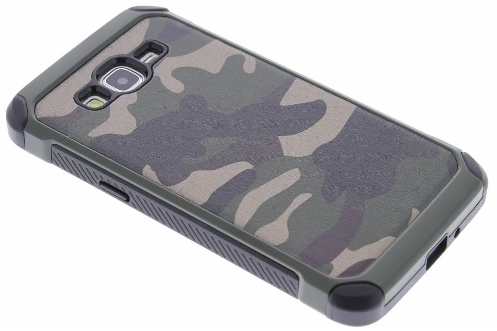 Army Defender Backcover voor Samsung Galaxy Grand Prime - Groen