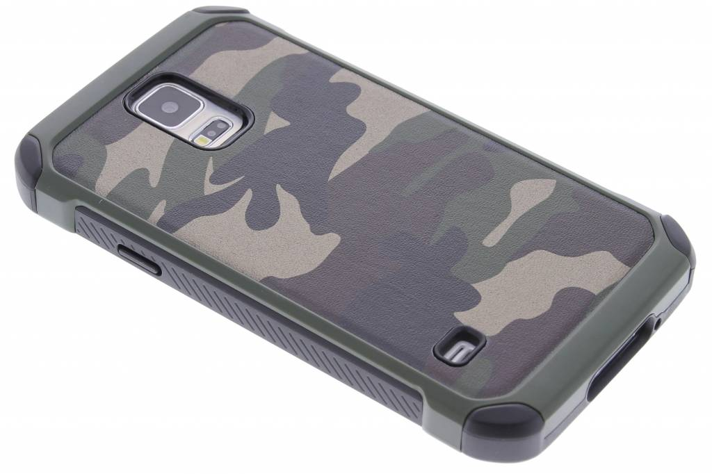 Army Defender Backcover voor Samsung Galaxy S5 (Plus) / Neo - Groen