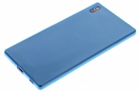 Ultra Thin Transparant Backcover voor Sony Xperia Z5 - Blauw