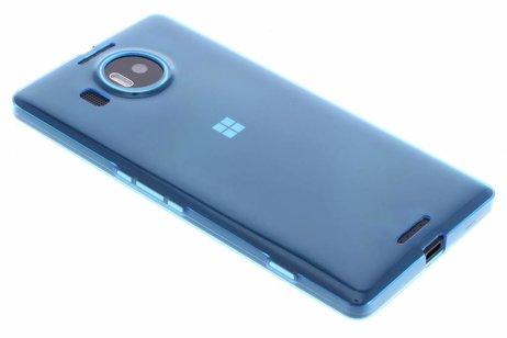 Ultra Thin Transparant Backcover voor Microsoft Lumia 950 XL - Blauw