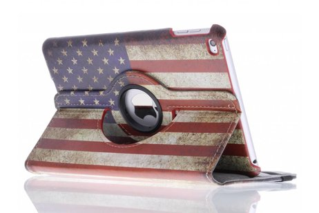 360° Draaibare Design Bookcase voor iPad Mini 4 - Amerikaanse Vlag