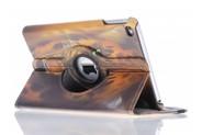 360° Draaibare Design Bookcase voor iPad Mini 4 - Tijger