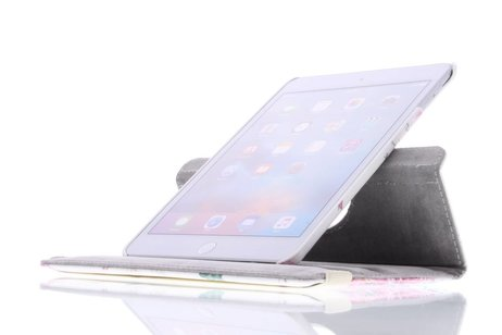 360° Draaibare Design Bookcase voor iPad Mini 4 - Roos