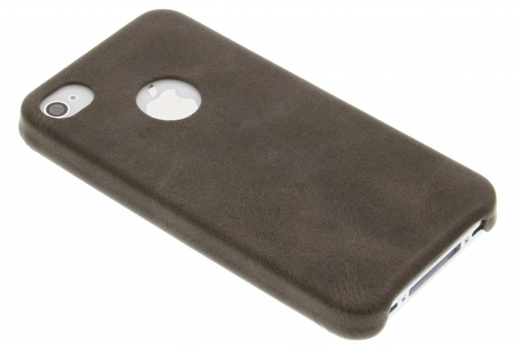 Bruine TPU Leather Case voor de iPhone 4 / 4s