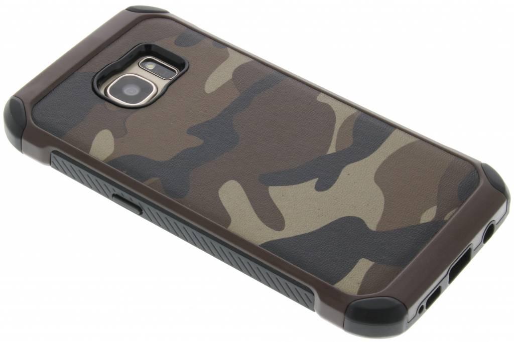 Army Defender Backcover voor Samsung Galaxy S7 - Bruin