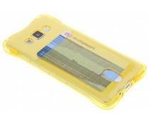 Geel TPU hoesje met vakje Samsung Galaxy A5