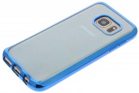 Backcover met metallic rand voor Samsung Galaxy S7 - Blauw